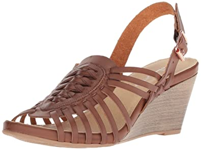 e1ae273b45 CL by Chinese Laundry Women s Heist Wedge Sandal Rich Brown Burnished 10 ...