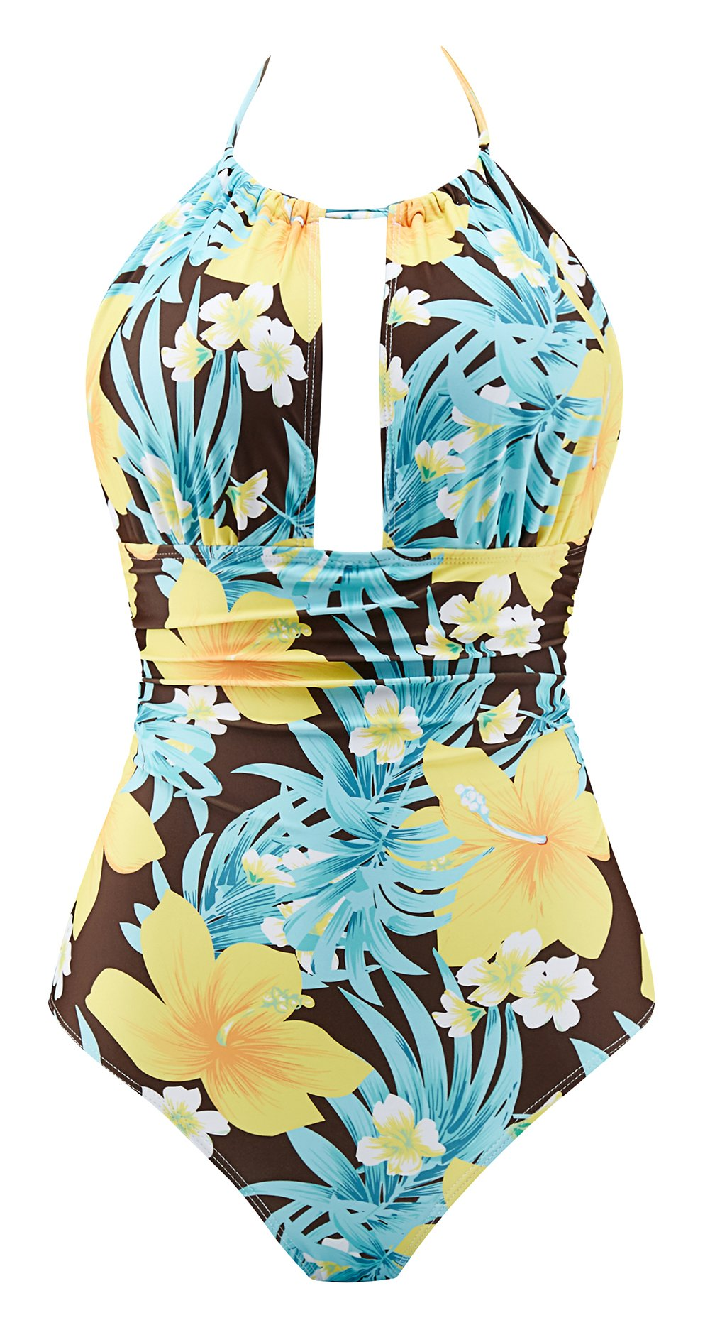 76be65822ed7d Galleon - Eomenie Women's Deep V Neck Bathing Suits Monokini Sexy Tummy  Control Swimwear One Piece Swimsuit For Women (L/US:12-14, Print #22)