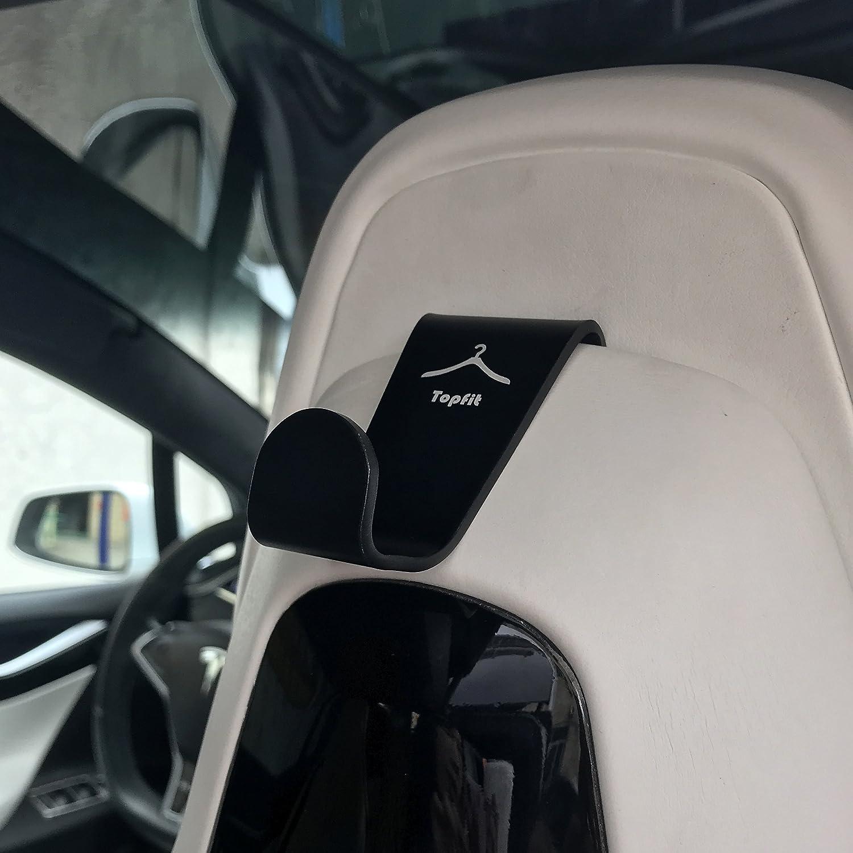 Car Seat Back Storage Hooks,Headrest Hanger Holder Hook Car Seat Organizer For Handbags Backpack,Purses and Grocery Bags for Model X Model S Coats 2 packs