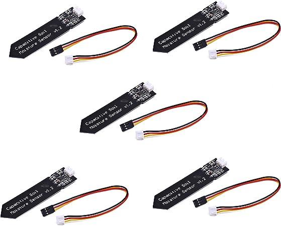 2Pack Capacitive Soil Moisture Detection Sensor Module Corrosion Resistant 3-Pin
