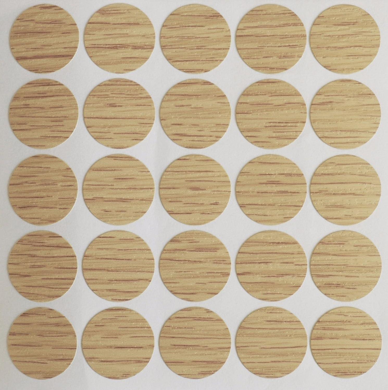 B/ücherregal Wei/ß 15 x 18 mm selbstklebende Schraublochabdeckung Schrank f/ür M/öbel