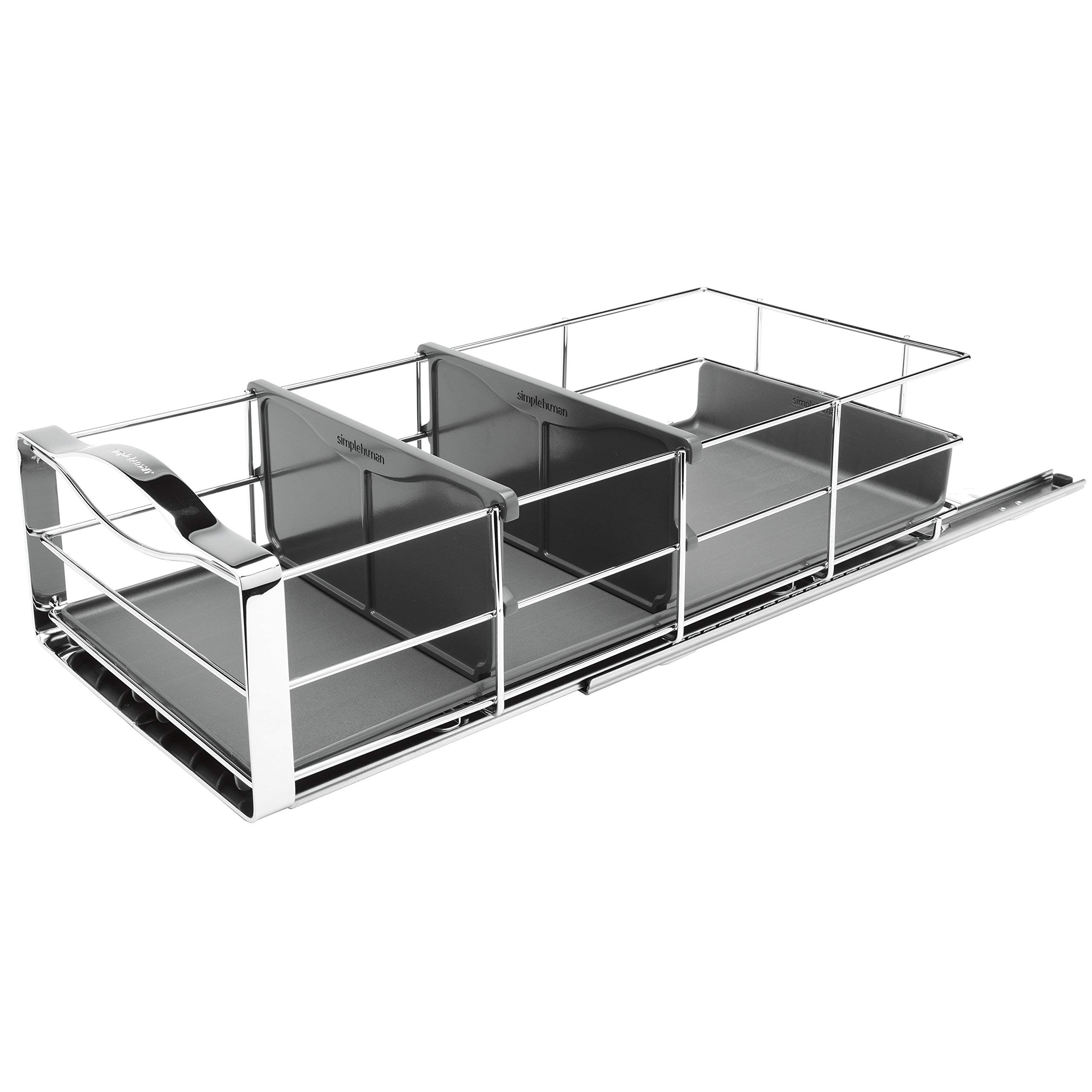 simplehuman Pull Out Cabinet Organizer 9'', Stainless Steel (Renewed)