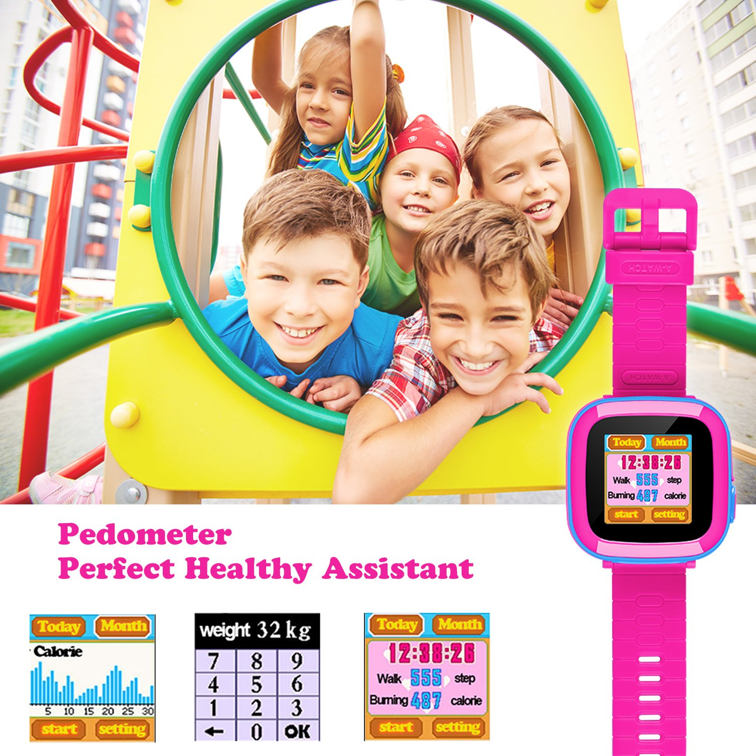 Smart Watch for Kids Girls Boys,Smart Game Watch with Camera Touch Screen Pedometer,Kids Smart Watch Perfect Holiday Birthday Toys Gifts (Joint Blue) by MIMLI (Image #4)