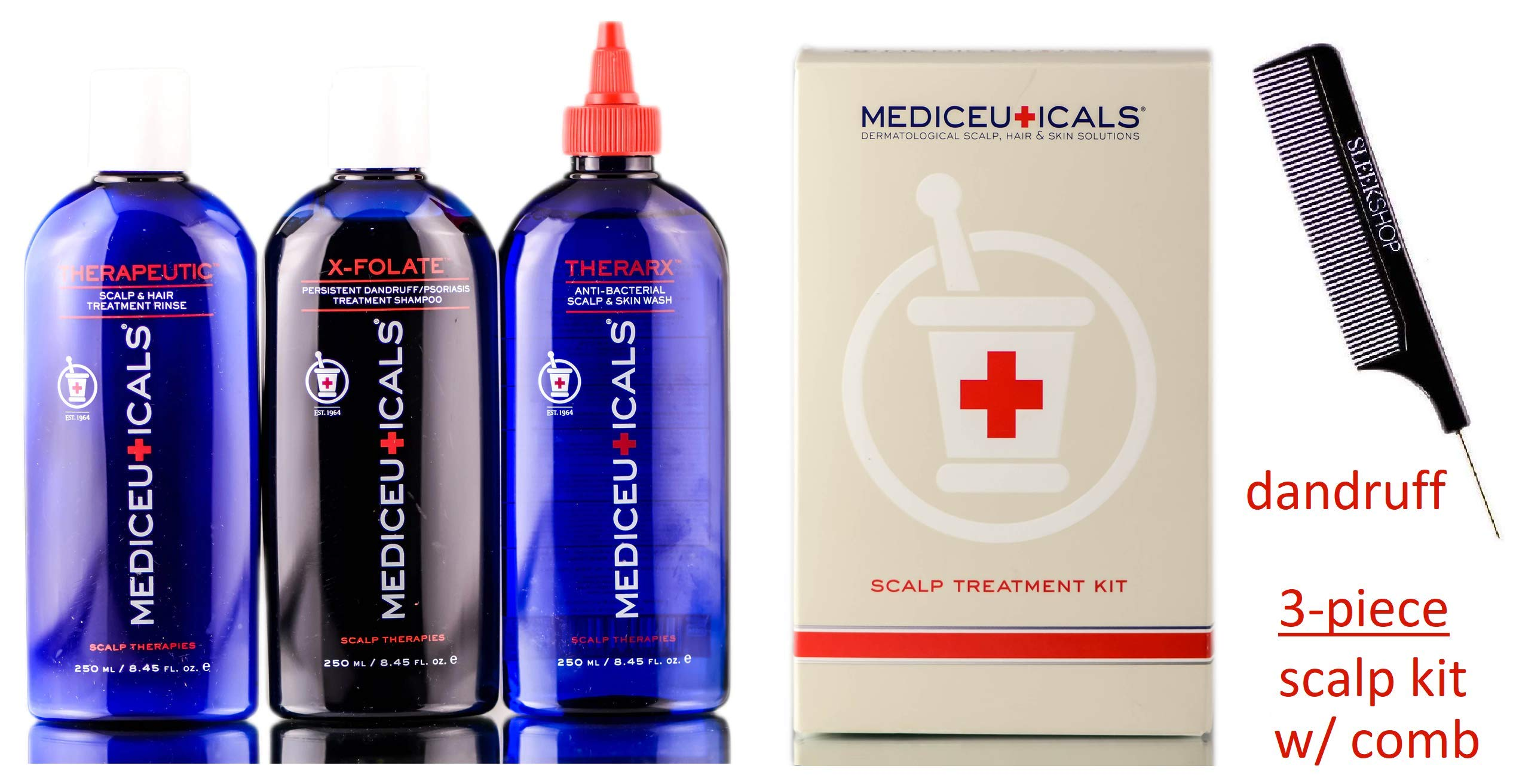 Therapro Mediceuticals 3-piece SCALP TREATMENT KIT for DANDRUFF Hair (STYLIST KIT) (DANDRUFF KIT) by Therapro MEDIceuticals