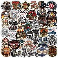 WayOuter Pegatinas de Motocicletas Harley Vintage 100 Piezas calcomanías de Vinilo de Motorista para Equipaje portátil…