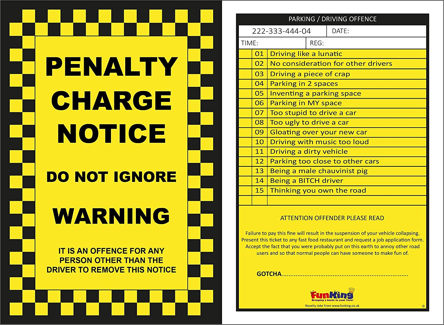 It's just a graphic of Printable Fake Parking Tickets pertaining to illegal