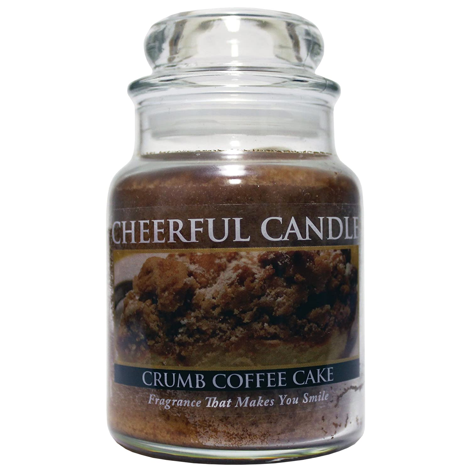 A Cheerful Giver 6-Ounce Crumb Coffee Cake Cheerful Jar Candle CB92