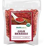Healthworks Raw Goji Berries (32 Ounces / 2 Pound) | Certified Organic & Sun-Dried | Keto, Vegan & Non-GMO | Baking, Teas & Smoothies | Antioxidant Superfood