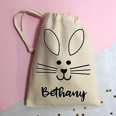 Cinnamon bay easter bunny cotton gift bag personalised large bag cinnamon bay easter bunny cotton gift bag personalised large bag 30 x 40 cm negle Images