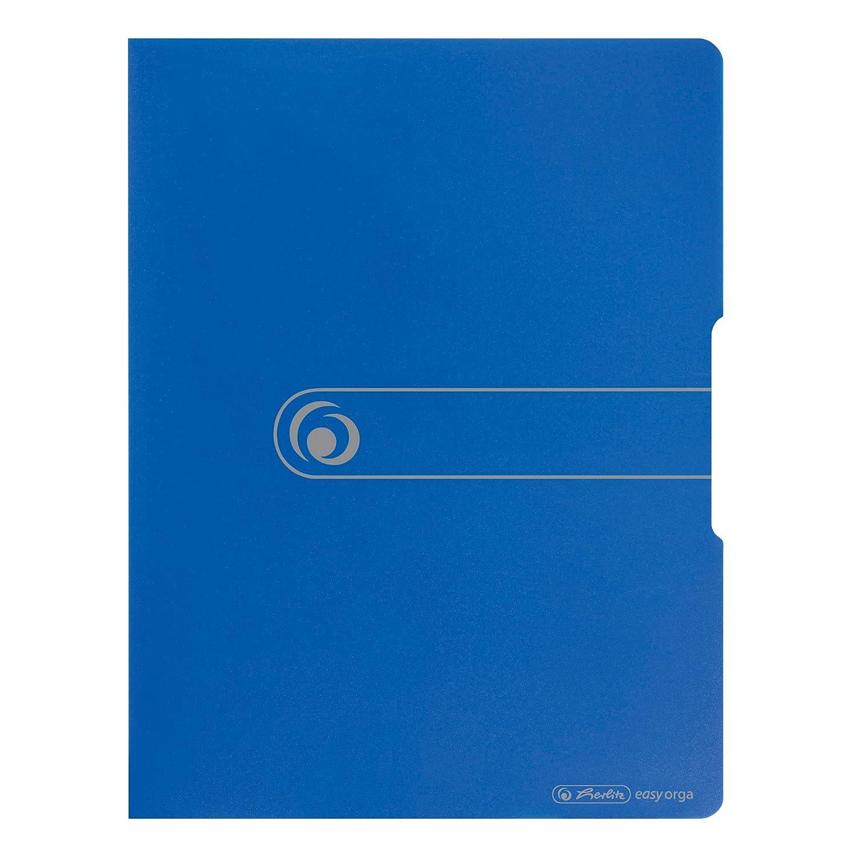 targhetta dorso incollata,: Blu opaco Blu opaco 20/buste trasparenti 2 Pezzi Herlitz/ /11207347/portalistino A4