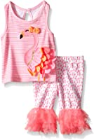 Mud Pie Girls' Two Piece Sleeveless Playwear Set