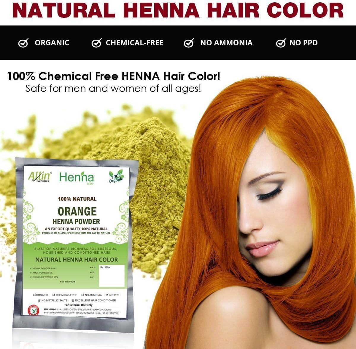 Henna Color de pelo polvo – 100% orgánico, libre de amoníaco, PPD, metálico Sales