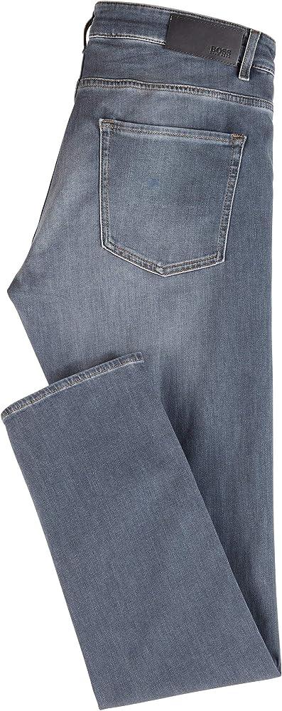 Amazon Com Hugo Boss Delaware Pantalon Vaquero Para Hombre Ajustado Ligero Elastico Italiano Jean 36 Cintura X 30l Pierna Clothing