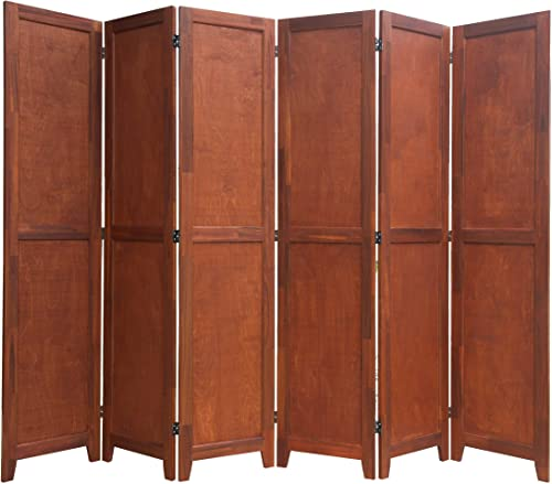 Urnporium 6 Panel Wooden Room Divider Partition Privacy Screen 2 Way Hinges
