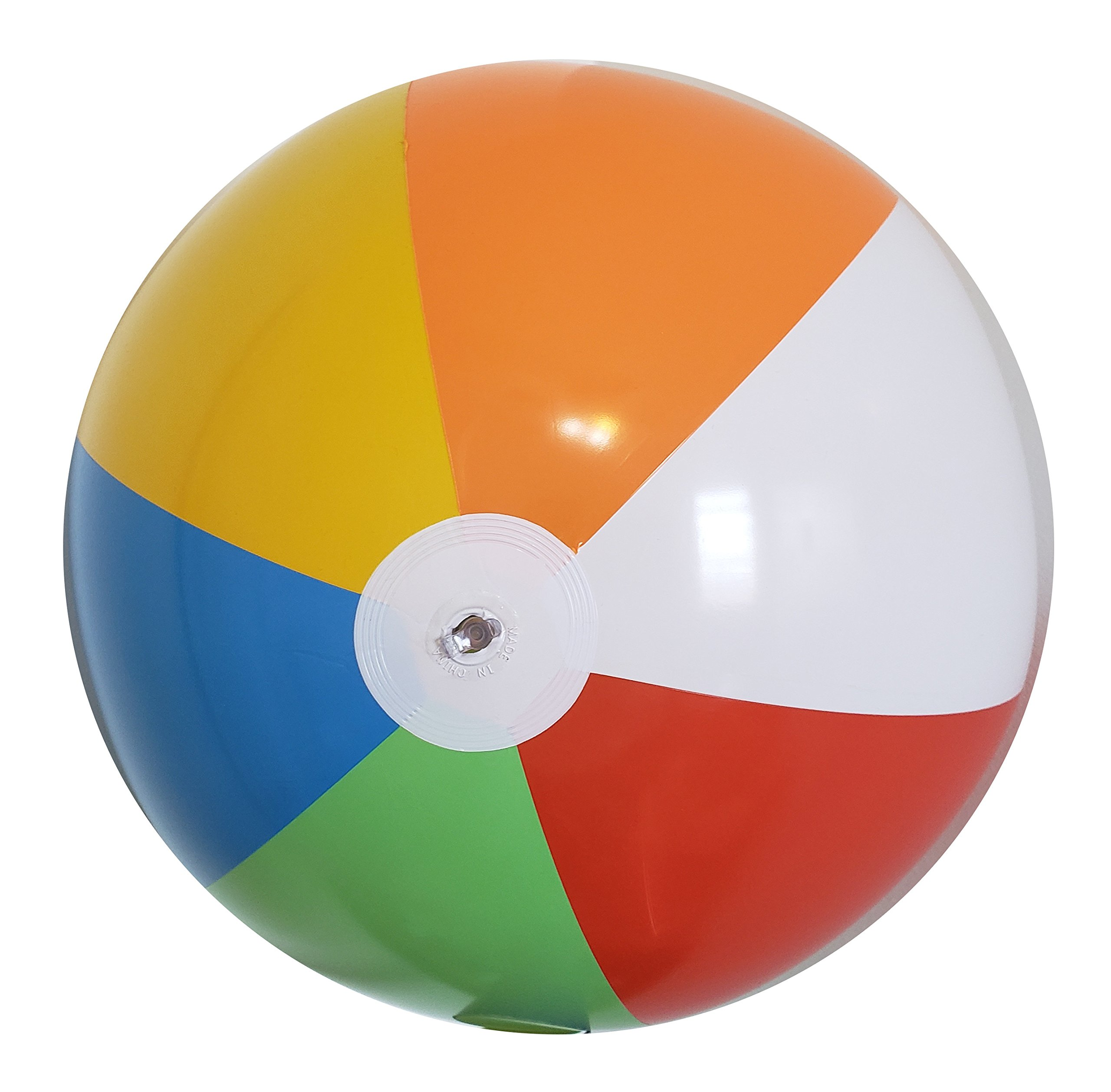 Fun Land 24 inch Pack of 6 Jumbo Colorful Beach Balls Rainbow Color Beach Balls 24'' Inch by Fun Land