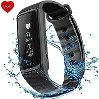 OMORC Fitness Tracker Activity Tracker Cardiofrequenzimetro da Polso Impermeabile IP68 Weloop Bluetooth 4.0 Orologio Fitness Uomo Donna Contapassi Sonno Monitoraggio Calorie Nero Versione Aggiornata