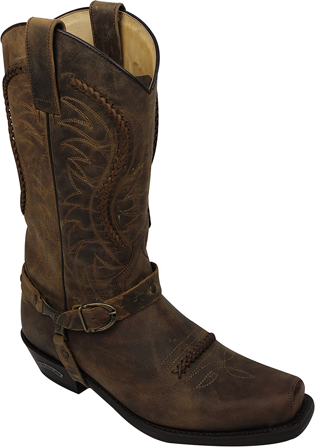 Sendra Cowboy Boots 3434 in Brown with Roy Dunn´s Boot Polish and Boot Jack