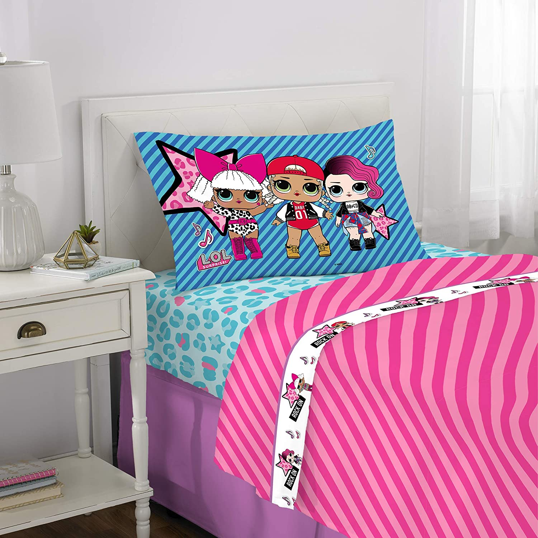 Franco Kids Bedding Super Soft Sheet Set, 3 Piece Twin Size, L.O.L. Surprise