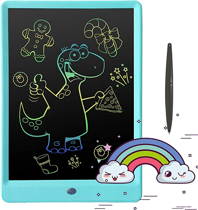 Color : Blue, Size : 11 inches DHUYUN LCD Writing Tablet 11 Inch Macaron Color LCD Writing Tablet Childrens Drawing Writing Board 2 Cdolors LCD Drawing Board