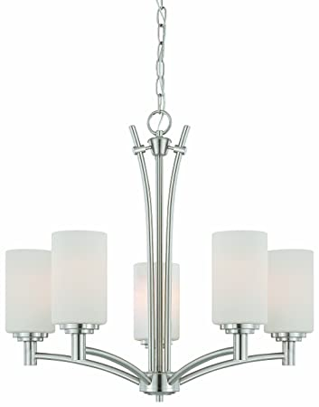 Thomas Lighting 190041217 Pittman Chandelier, Brushed Nickel