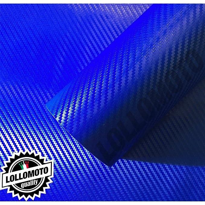 1 opinioni per Carbonio 3D Blu Pellicola Adesiva Rivestimento Auto Car Wrapping- 19x50cm