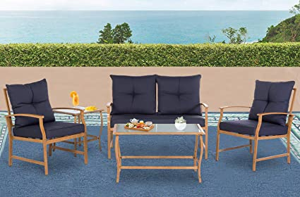 Amazon Com Solaura Patio Outdoor Furniture Bistro Set 5 Piece