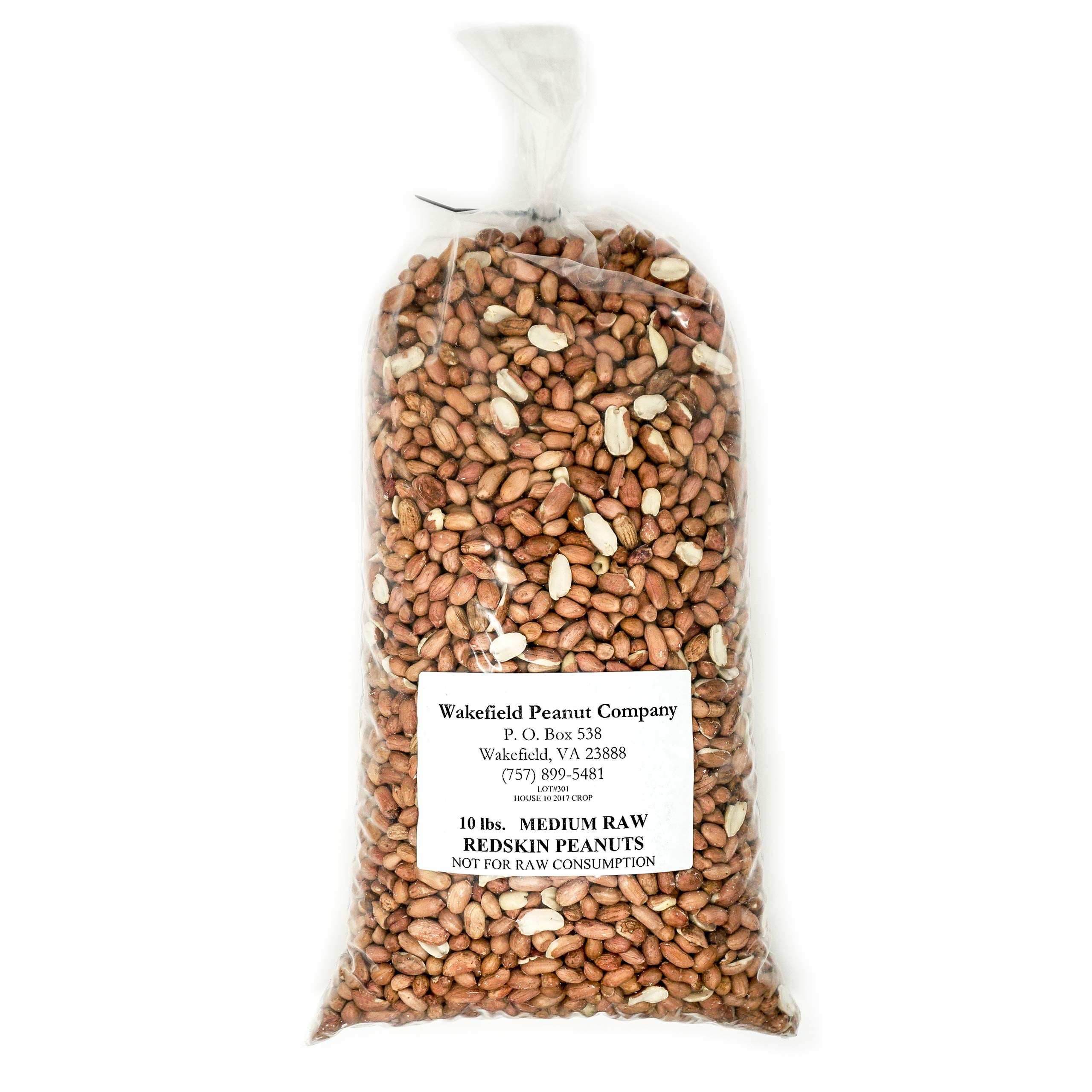 Virginia Peanuts Raw Redskin Peanuts, Premium Grade / 10 lbs Bulk/Shelled / For Cooking Peanut Brittle, Peanut Candy, Peanut Butter Cookies, Peanut Butter, Roasted Peanut, Trail Mix, Granola & more by WAKEFIELD PEANUT COMPANY A TRADITION OF EXCELLENCE SINCE 1965