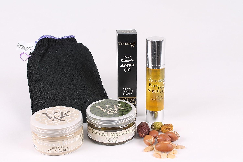 ヴィクトリア アンド ケイ アルガンオイル100% ピュアオーガニックのモロッコ産アルガンオイル使用のスキンケア、ヘアケア    無香料ラベンダー使用とイヤンイヤンのセット B00KZJT70U