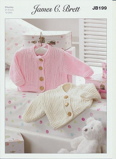 0d198b431 Cardigans JB199 Knitting Pattern James C Brett Flutterby Chunky   Amazon.co.uk  Kitchen   Home