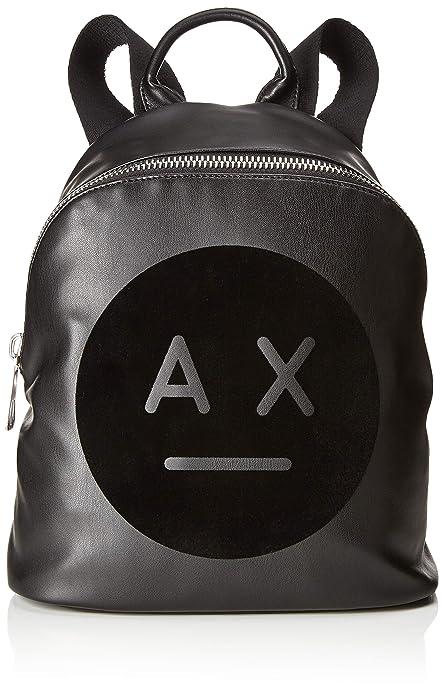 d0de0895dd ARMANI EXCHANGE Graphic Logo Backpack - Borse a zainetto Donna, Nero,  31.0x15.