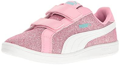 PUMA Girls Smash Glitz Glamm V PS Chukka Beetroot Purple White 147bb0fab
