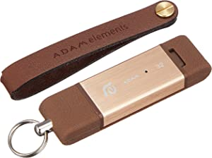 Adam Elements [iPhone/iPad Compatible Lightning/USB 3.0 Flash Drive 32GB MFi authentication] iKlips Apple Lightning Flash Drive Gold ADRAD32GKLPGD