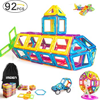 Imden Magnetic Blocks 92-Piece Building Set