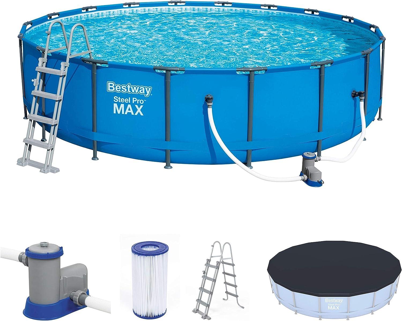 Bestway mit und Zubehör Steel ProMAX Pool Ø549x122 cm ...