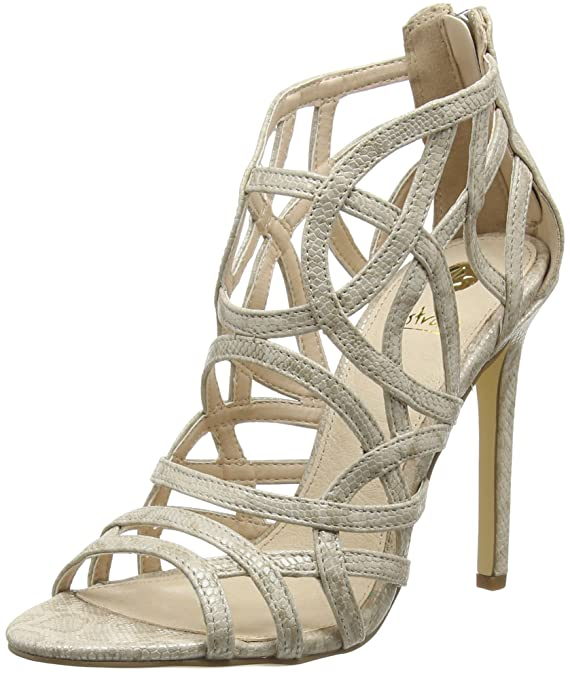 Nude Snake Leather Look Sandal, Womens Open Toe Sandals La Strada