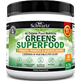 Super Greens Powder - Dr. Approved Formula with 45+ Organic Green Superfoods - Alfalfa, Bilberry, Spirulina, Chlorella & More