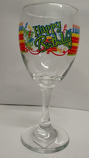 Image Unavailable Not Available For Color Happy Birthday Wine Glass Cake