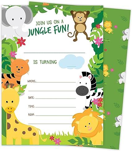 Happi Jungle Party Invites Party Invitation Cards
