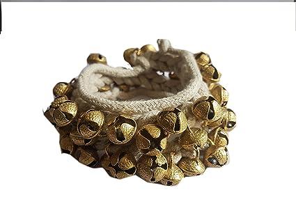 Amazon com: Large Size Brass Kathak Ghungroo Pair, sound (50
