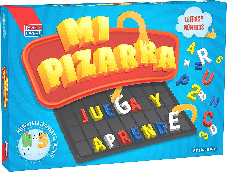 Falomir Pizarra Letras y números, Juego de Mesa, Educativo, Color ...