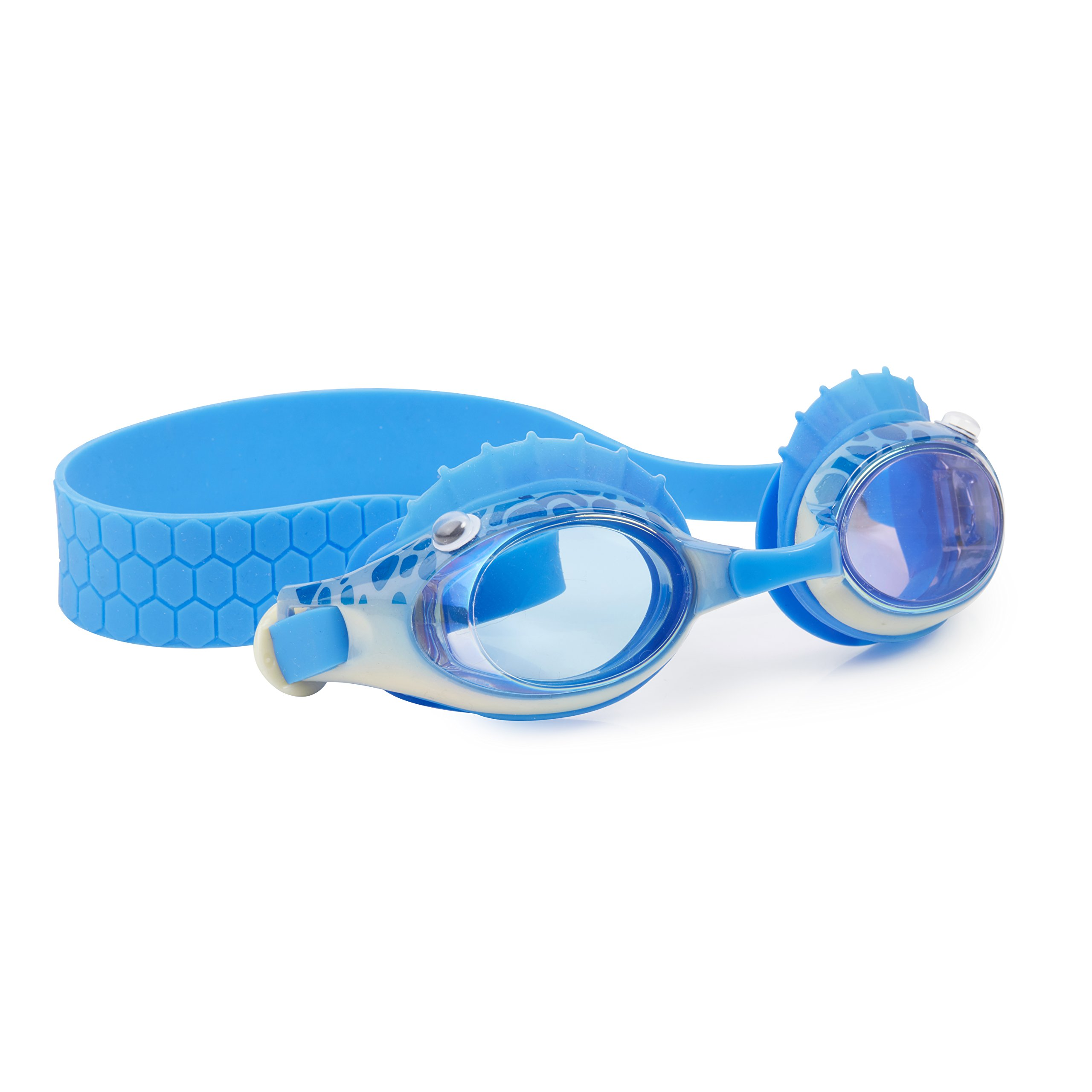 Ocean Themed Swimming Goggles For Kids by Bling2O - Anti Fog, No Leak, Non Slip and UV Protection - Fun Water Accessory Includes Hard Case