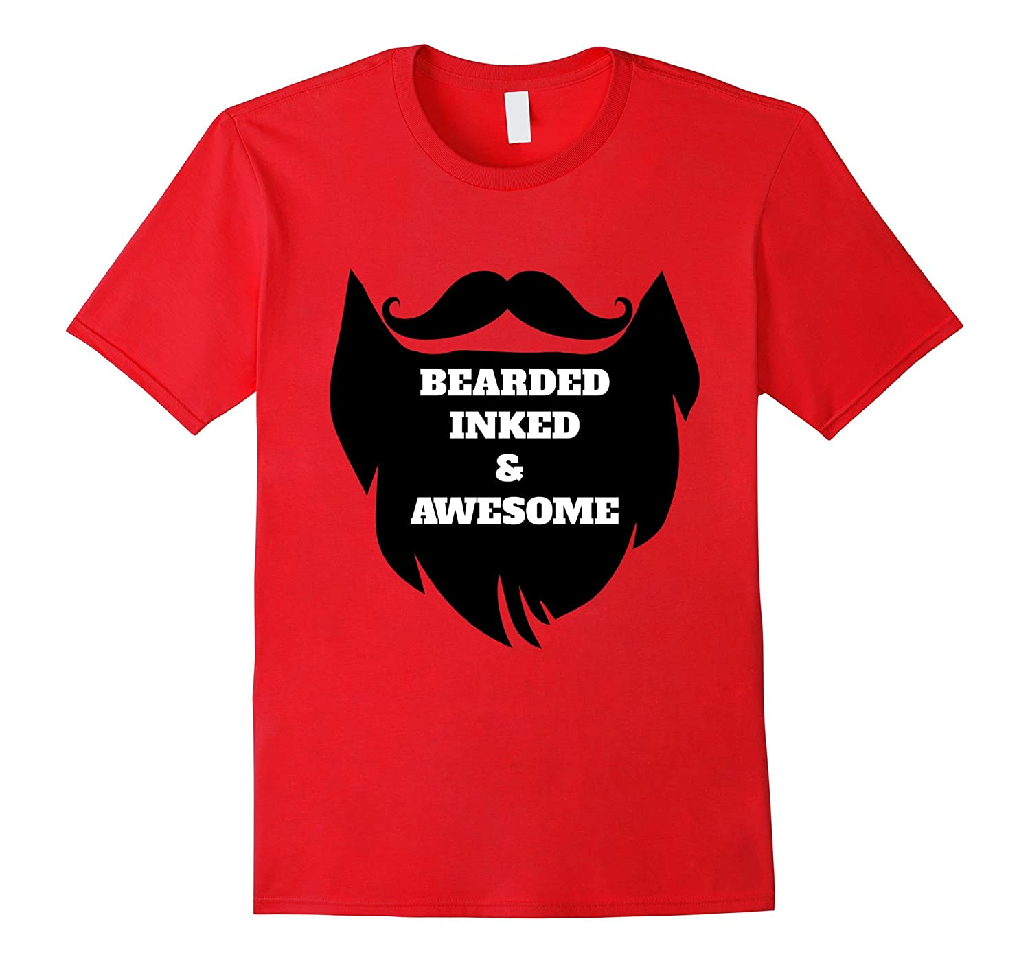 Bearded Inked & Awesome T-Shirt-ANZ