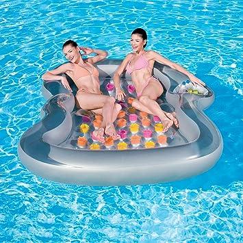 Wonderful Large Dual 2 Person Swimming Pool Float Raft Inflatable Mattress Lounger