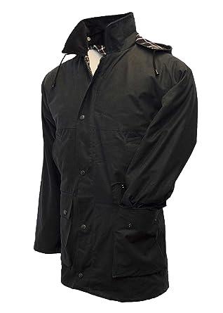 e6541fd7646 Walker   Hawkes - Mens Unpadded Wax Jacket Countrywear Hunting Waxed Coat -  Navy - X