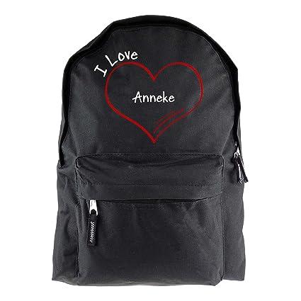 Mochila modern I Love Anneke negro