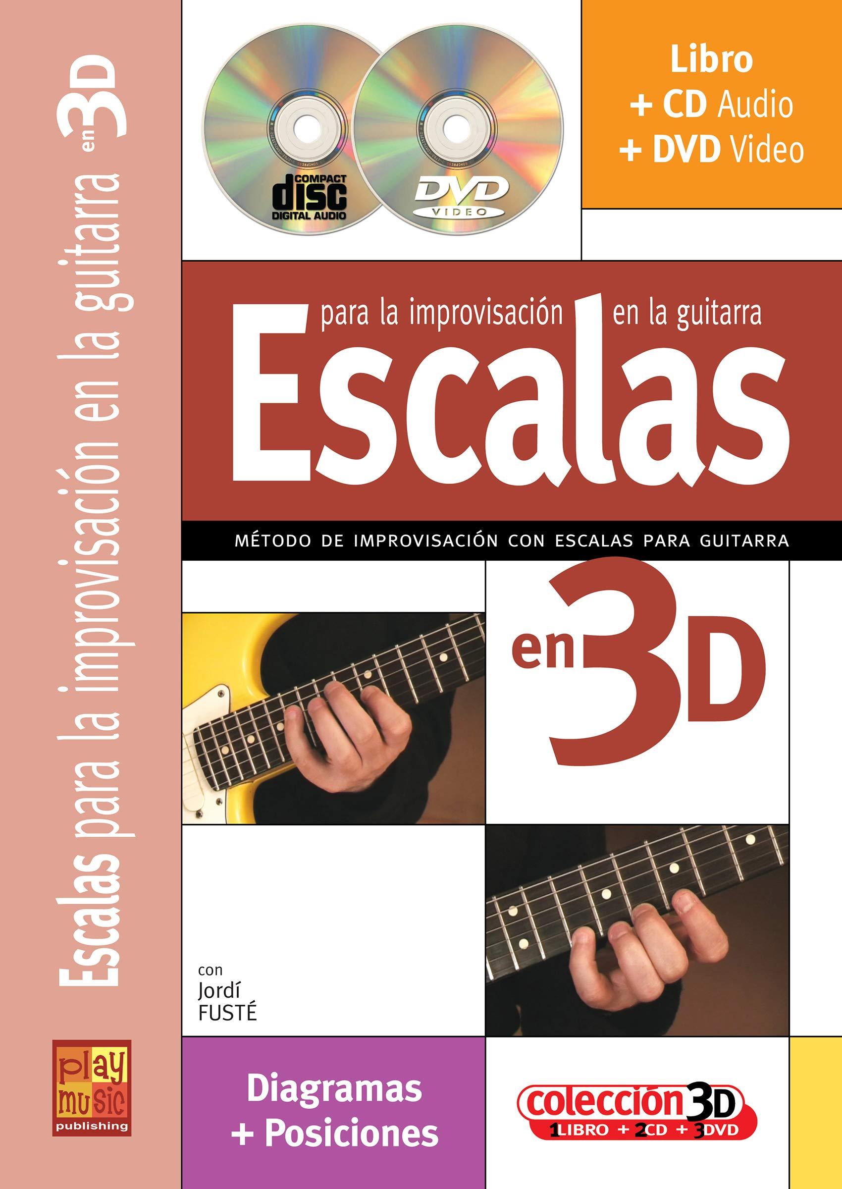 Escalas para la guitarra en 3D - 1 Libro + 1 CD + 1 DVD Play Music ...