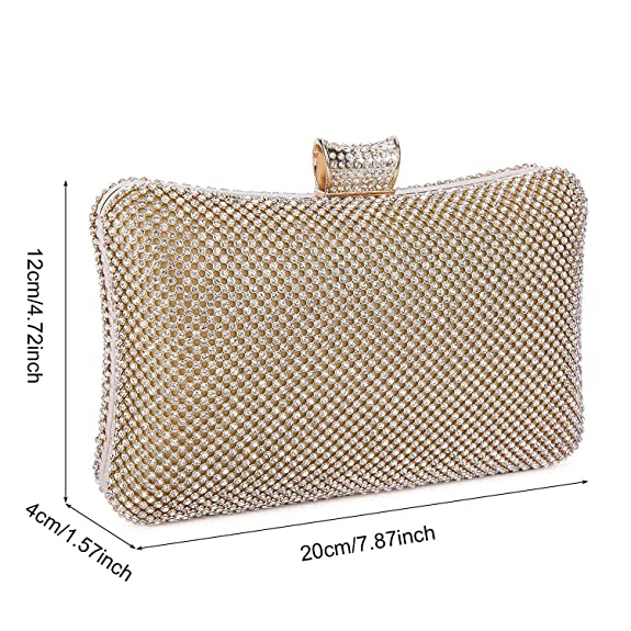 Amazon.com: BAIGIO - Bolsa de embrague de cristal, funda ...