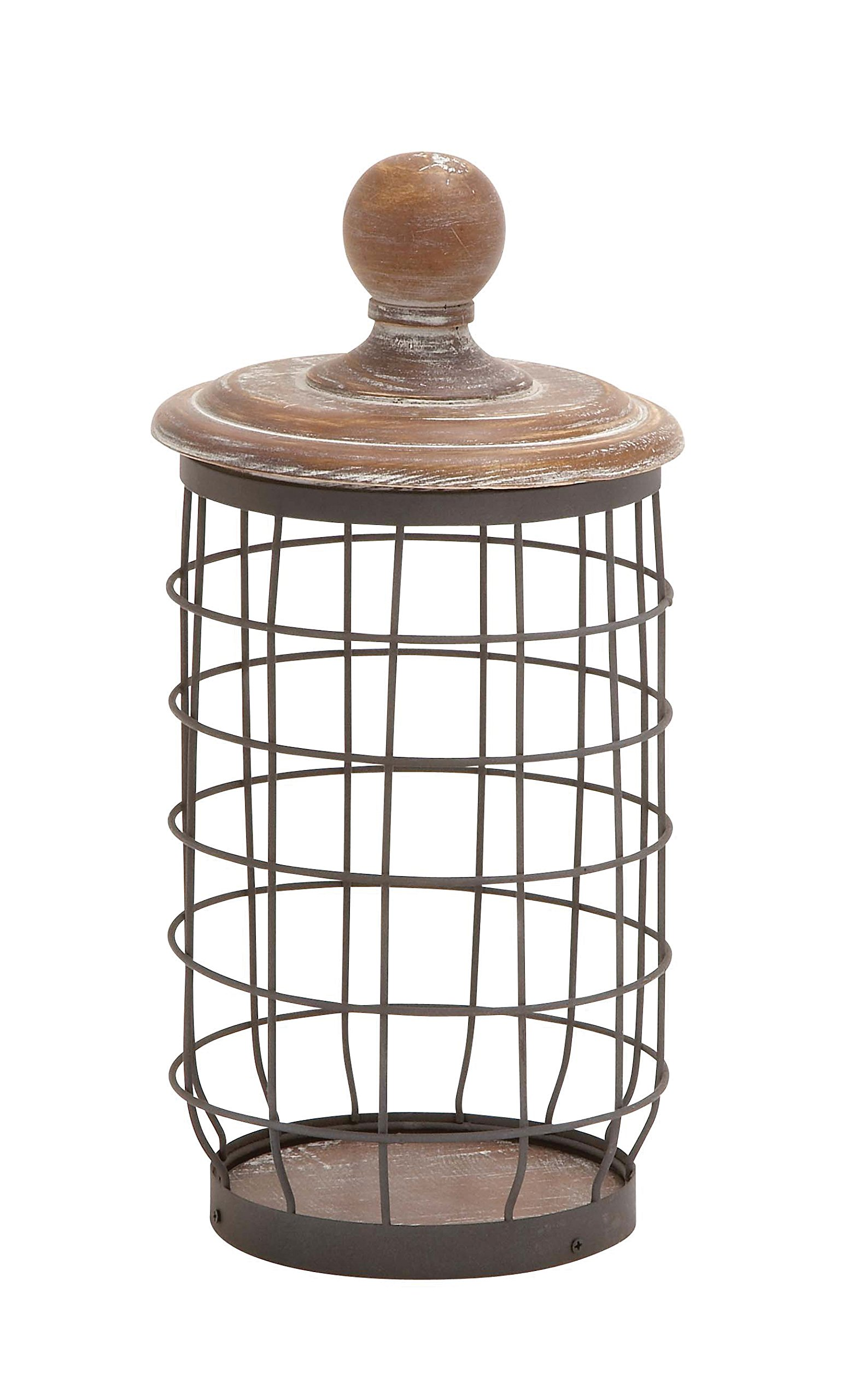 Deco 79 55313 Metal Wood Wire Jar, 7'' by 13'' by Deco 79 (Image #1)