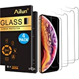 Ailun Screen Protector Compatible iPhone X/Xs,iPhone 10 [4 Pack],2.5D Edge Tempered Glass for iPhone X/10/Xs[5.8inch],Anti-Scratch,Case Friendly,Siania Retail Package