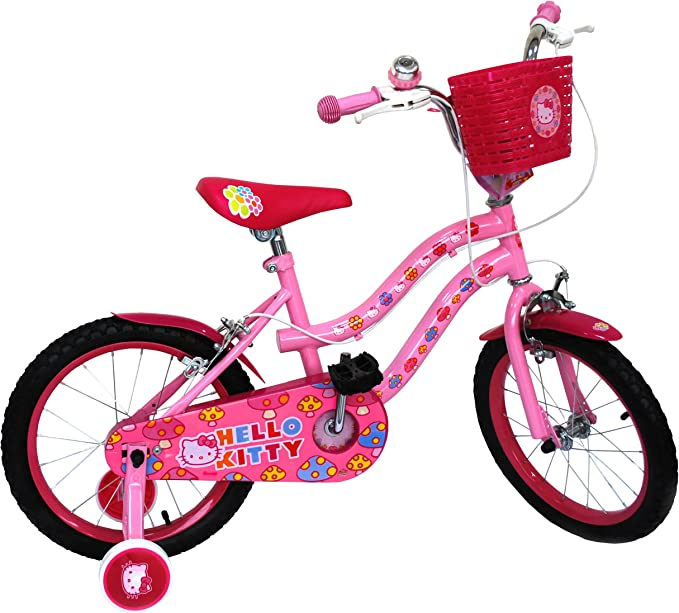 Hello Kitty - Bicicleta de 16 (Amijoc Toys 6628): Amazon.es ...